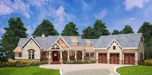 Southern style house plans 2531 square foot home 1 for Southern style ranch home plans
