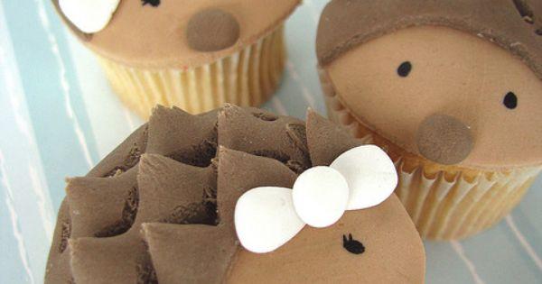 Cute!!! hedgehog desserts