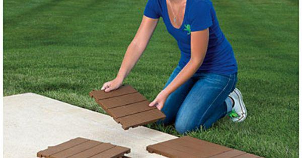 interlocking polywood deck patio tiles 10 pack at big