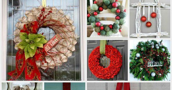summer wreath ideas | Love Of Family & Home: 16 Christmas Wreaths