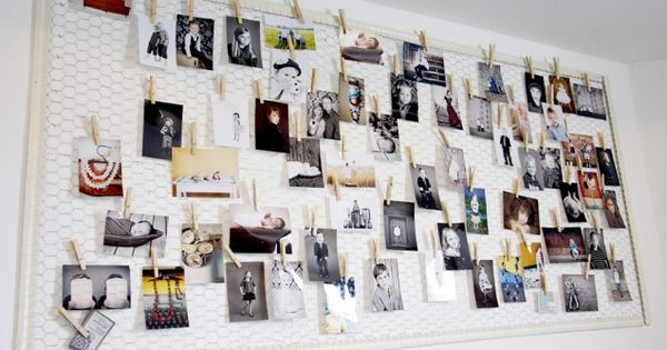chicken wire photo display...