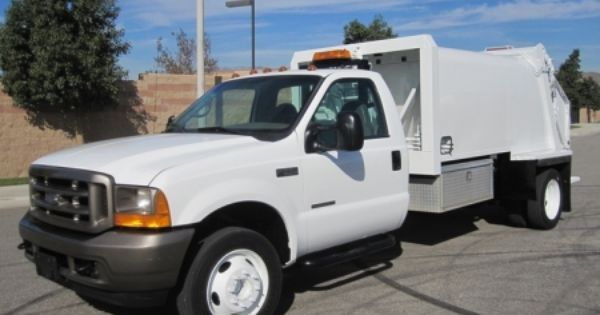 2001 Ford F 550 With Wayne Tomcat 8 Yard Rear Loader Garbage Truck 7 3l Powerstroke Engine Auto Transmission Cart Tippe Garbage Truck Trucks Trucks For Sale