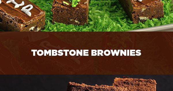 Brownies, Milk and Halloween on Pinterest