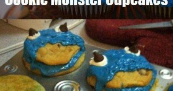 cookie monster cupcakes nailedit :)