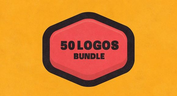 BUNDLE 50 Logos & Badges – striking and bold – perfect for badge, stamps and stickers