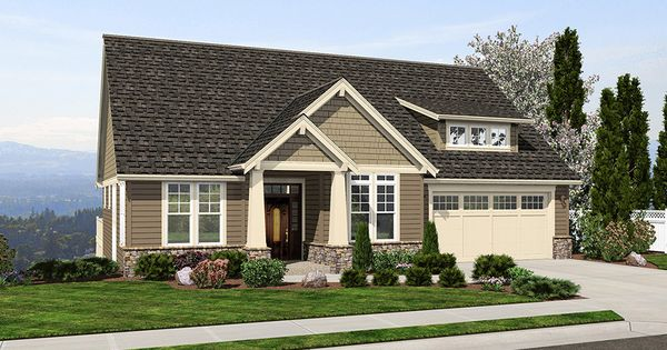 This Classic Craftsman Two Story Houseplan Has Rooms For