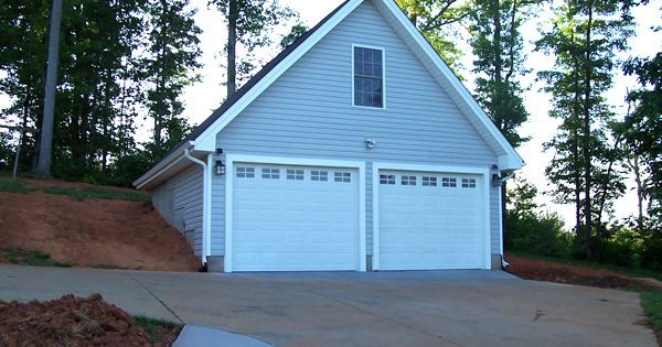 2 Car Garage With Bonus Room Built Into A Hillside Our