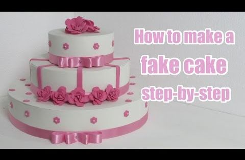 how to create a fake wedding cake how to make a cake step by step faux 15610