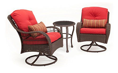 La Z Boy Outdoor 3 Piece Bristol Wicker Patio Bistro Set Red Resin Wicker Patio Furniture Cheap Patio Furniture