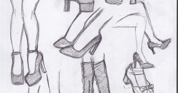 Dibujos De Zapatos A Lu00e1piz #shoes #drawing #pencil | Design | Pinterest | Drawings Anime And ...