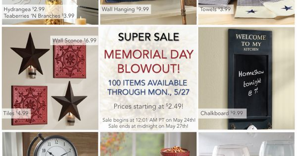 memorial day sales home depot