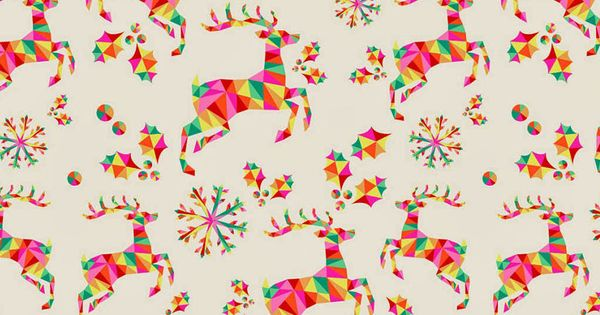 Colorful Geometric Reindeer Pattern. Tap Image For More