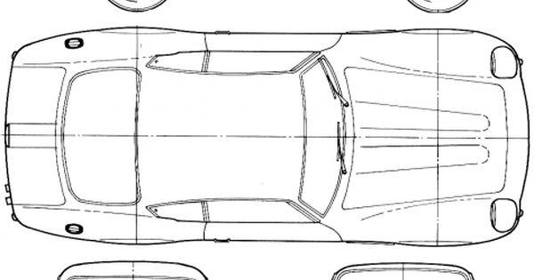 1964 aston martin db4 gt zagato coupe blueprint cars for Pinewood derby corvette template