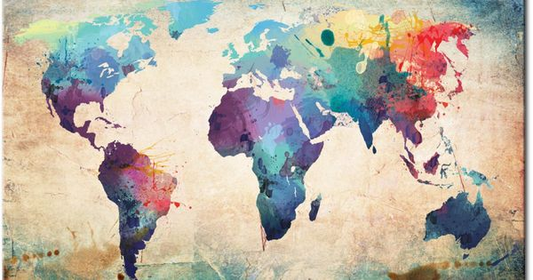 Mapa del mundo en el estilo art stico esta decoraci n de for El mundo de la decoracion