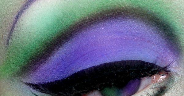 Frankie Stein-inspired eye makeup