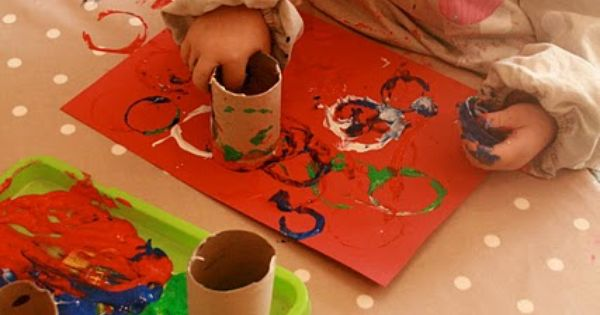 toilet paper roll painting craft