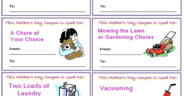 CMother's day coupon book... free printables