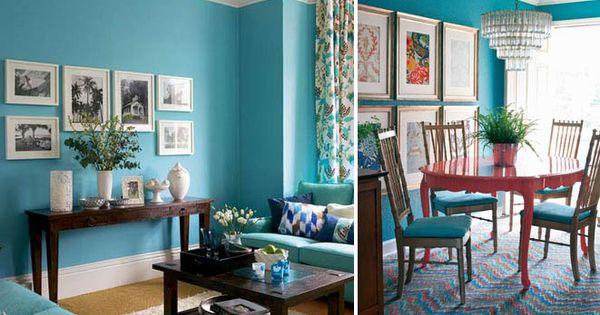 Azul turquesa uma cor viva e combina f cil com outras - Sofa azul turquesa ...