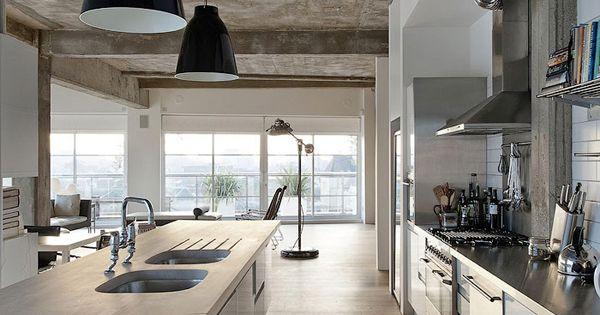 loft londres par l 39 architecte william tozer loft kitchen lofts and kitchens. Black Bedroom Furniture Sets. Home Design Ideas