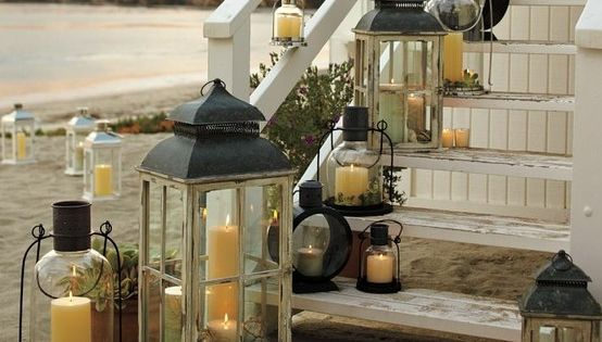 Mix and match lanterns in different shapes and sizes to illuminate a