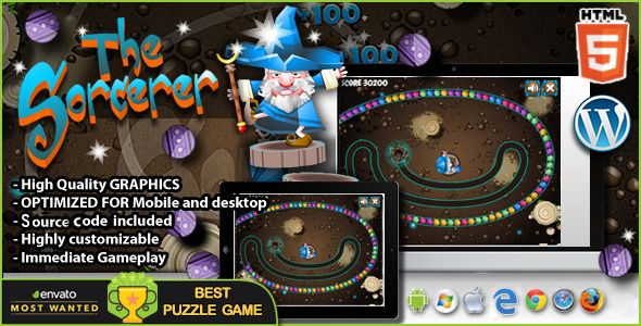The Sorcerer Html5 Puzzle Game Games Matching Games Website