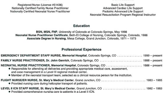 Nurse Practitioner Resume Example Resume examples and Nurse - advanced registered nurse practitioner sample resume