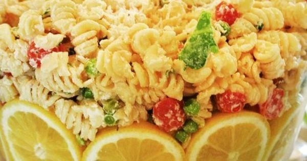 Cold Pasta Salad Lemon Pasta Salad Country Baby Shower