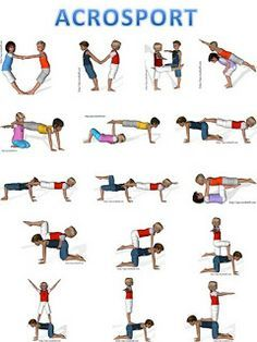opdracht beweegeiland acrobatie per 2 makkelijk