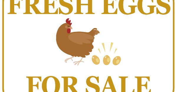 Printable Fresh Eggs For Sale Sign Flynn S Produce Stand