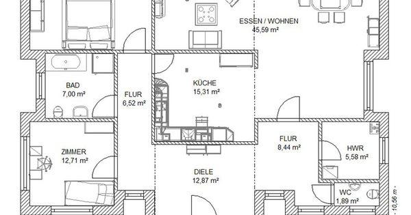 Fertighaus bungalows winkelbungalows hausansicht for Hausplanung grundriss