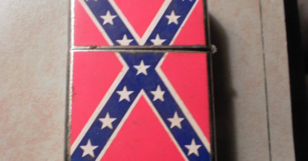 Vintage Lighter Confederate Flag And Soldier By