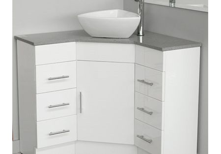 Corner Vanity With Caesarstone Top 900mm X 900mm Corner Bathroom Vanity Corner Sink Bathroom Bathroom Sink Cabinets