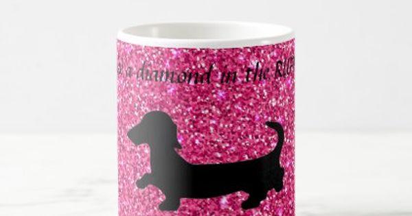 Cute Dog Cupcake Glitter Googly Eyes Dachshund Birthday Card