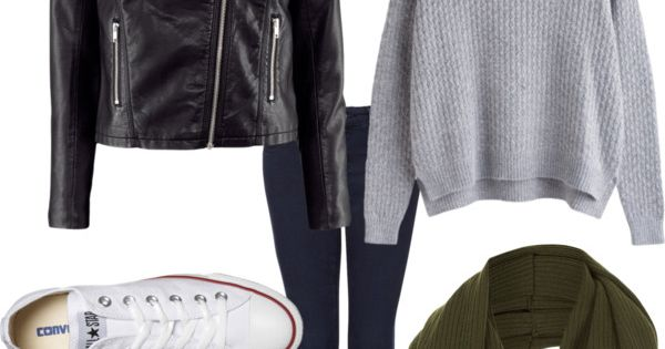 """Eleanor Calder Inspired Outfit for a cold rainy day with H Jacket"""