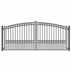 Steel Dual Swing Driveway Gate Paris Style 12 X 6 Ft All Of Our Gates Capture The Classic Magnifi Wrought Iron Driveway Gates Driveway Gate Gates For Sale