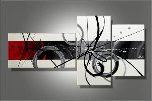 Tableaux peinture triptyque toiles