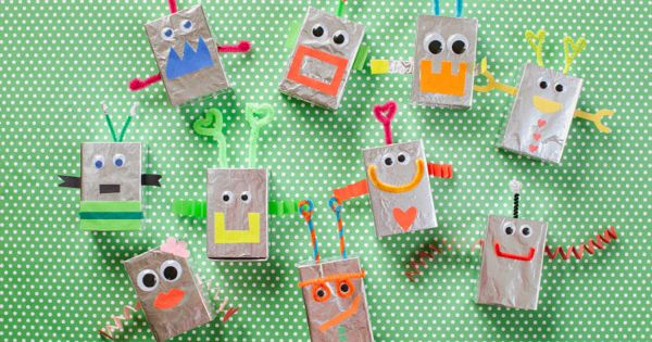 Robot Valentine Boxes DIY - Oh Happy Day- aiden will
