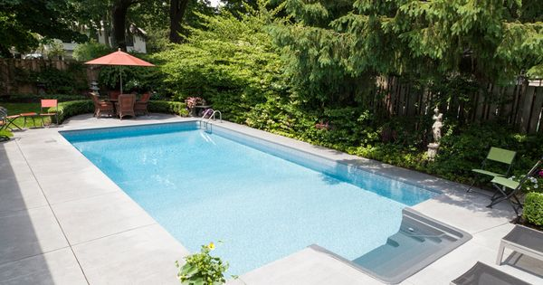 Inviting Rectangle Inground Pool With Full Reef Liner