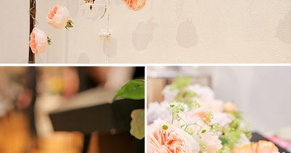 Hanging Garden Roses ceremony decor