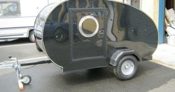 Teardrop Caravan Micro Trike Mini Glamping Smart Car Teardrop Caravan Smart Car Building A Teardrop Trailer