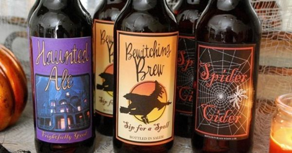 cg halloween beer labels up close. too cute! i will be taking