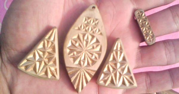Chip carving jewelery set my