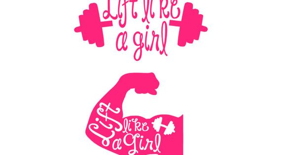 lift like a girl barbell and muscle fitness decal for window car water bottle electronic etc
