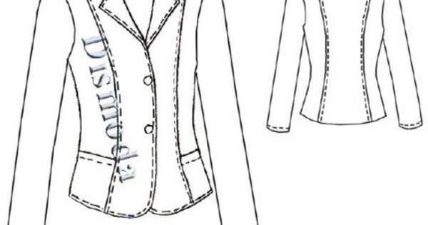 molde de blazer feminino entalhado polar