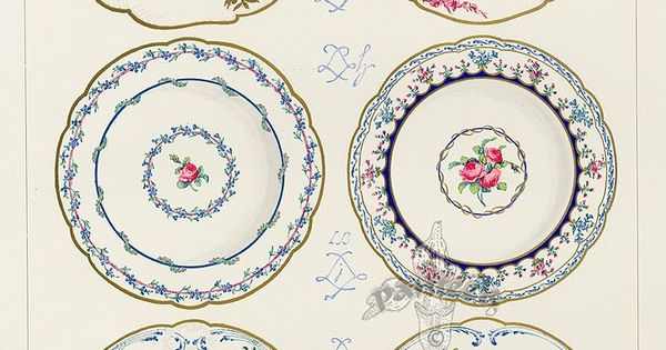 Printable Porcelain Looking Dollhouse Plates Enchanting