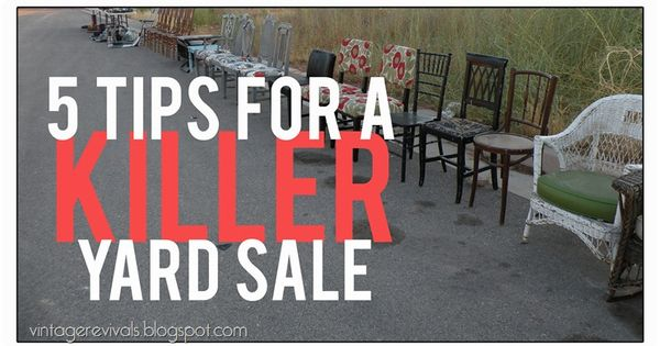 5 tips to have a successful yard sale and make a ton