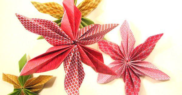 Etoile en pliage origami d coration de no l projets - Pliage serviette etoile 5 branches ...