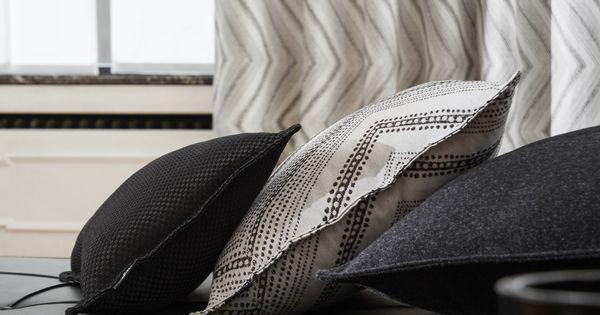 ambiance graphique heytens rideau en tissu peack blanc. Black Bedroom Furniture Sets. Home Design Ideas