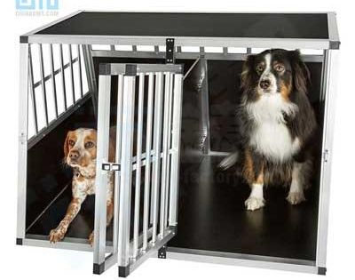 Dog Transport Cage Aluminium Double Doors Small To Large Pet Grates 06 0777