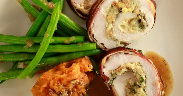 ... Rachael Ray's Turkey Rolls with Bacon, Apple and Ched… | Pinteres